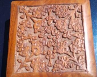 Vintage Wood Jewelry/Trinket Box