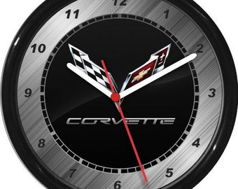 Corvette Wall Clock Garage Work Shop Gift Father's Day Man Cave Rec Room
