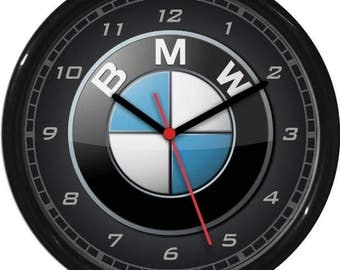 BMW Wall Clock Garage Work Shop Gift Father's Day Man Cave Rec Room