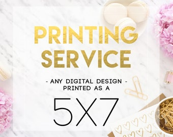 5x7 Printing Service - Print and Mail my Design!