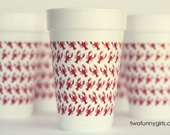 Crawfish Boil Styrofoam Cups 10 Pack Sleeve {Crawfish Wrap}