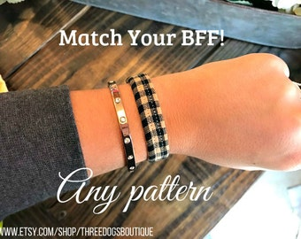 Additional bff bracelet for bandana or collar. FREE SHIPPING! *Please leave EXACT wrist measurement*