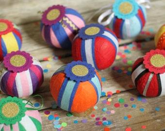 surprise gift ball, treasure ball, gift ball, prize ball, nostalgic gift, gift under 20, stocking stuffer, amazeball, PG Craft Cottage