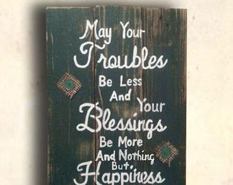 Irish Sign - Irish Gift - Irish Blessing Wood Sign - Irish Blessing Wall Art - Man Cave Sign - Irish Blessings Sign - Father's Day Gift