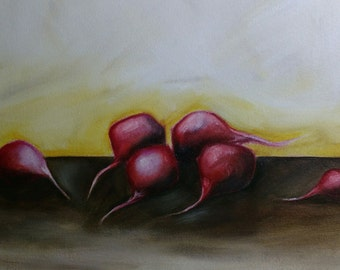Oil Painting - Radishes - 8x10