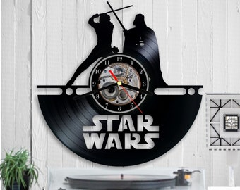 Star Wars Vinyl clock Star Wars uhr handmade clock Wall art Wall clock Darth vader Star Wars clock vinyl Record clock Birthday gift  Disney