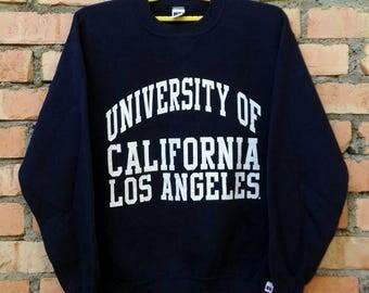 Vintage University Of California Los Angeles Sweatshirt Pullover 50/50 Medium Size