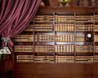 5x7ft Vinyl Digital Bookshelf Study Room Library Books Wall Photography Studio Backdrop Prop Background