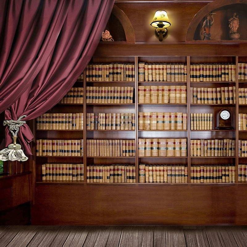 5x7ft Vinyl Digital Bookshelf Study Room Library Books
