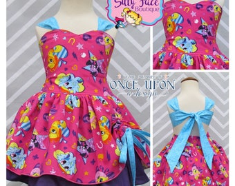 Girls Custom My Little Pony Birthday Party Outfit Pageant Dress Ready to Ship size 24 months 2t