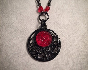 Blood Moon Necklace Etsy
