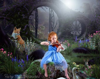 Magical Portal Digital Background