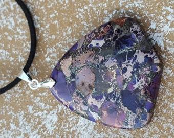 Sea sediment of Jasper necklaces pendant multi color sea sediment Jasper and pyrite pendant necklace - sea sediment Jasper and pyrite