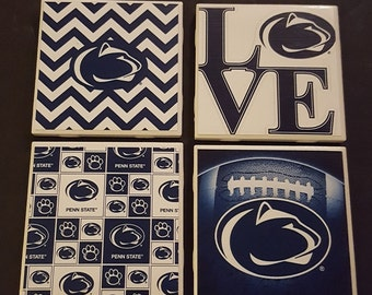 Penn State Coasters- Set of 4