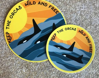 Granny and Tilikum Vinyl Sticker