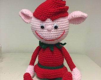 Santa's elves crochet figure