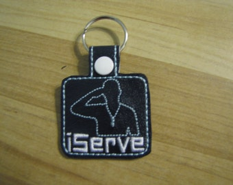 I Serve Man or Woman Key Fob