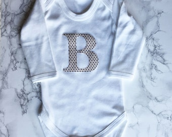 Initial Applique long sleeve Body