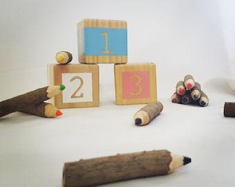 123 - Wooden stacking blocks