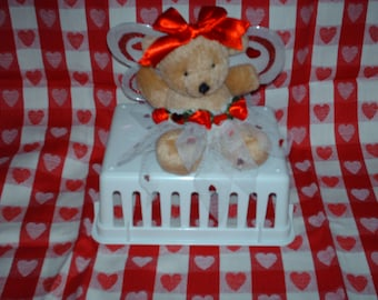 Valentine's Day bear with wings.