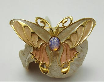 Art Nouveau Style Butterfly Pin
