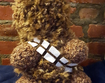 "Crocheted Wookie Doll 12"""