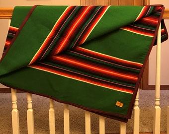 Vintage Beaver State Pendelton Wool Blanket Shawl Throw Original Price Tag  #197