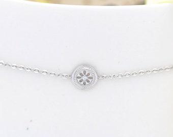 Circle Bridal Bracelet, Halo Bracelet, Circle Bridesmaid Bracelet, Bridesmaid Gift, Bride Bracelet, Jewelry Gift, Romantic Bracelet, Bohème