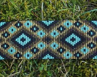 Beaded tribal bracelet from Mexico