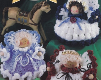 Pudgy Potpourri Angels, Annie's Attic Crochet Pattern Booklet 878702 OOP