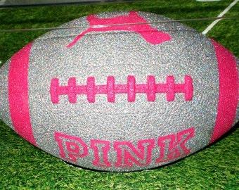 Light Pink Victoria's Secret VS PINK Glitter Football Decor