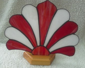 Stained glass plume fan panel