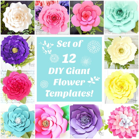 Paper flowers large paper flowers template patterns tutorials il570xn mightylinksfo