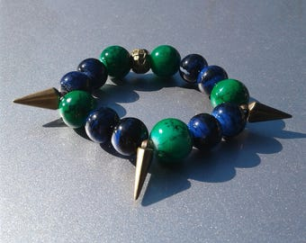 Women's Blue and Green bracelet