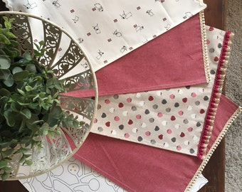 2 TEA TOWELS-Table Set-Easy & Chic-Coordinated Neutral Color