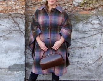 ON SALE!!! Vintage wool cape style coat