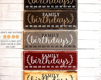 Family Birthday Sign Birthday Board | Family Birthdays | Birthday Sign | Birthday Board with Tags | Rustic Family Birthdays Sign | Birthdays
