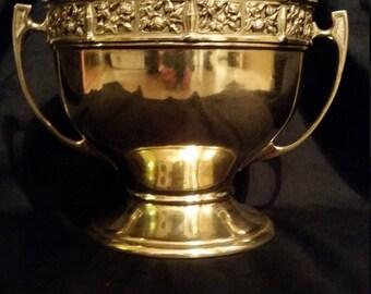 Soutterware Brass Trophy Type Jardiniere / Planter.