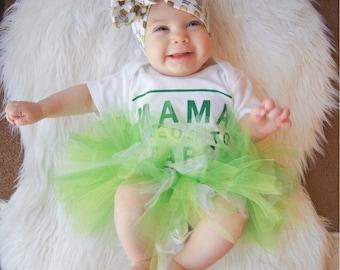 St. Patrick's Day Tutu - Green Tutu, Tinker Bell Tutu, Toddler Tutu, Baby, Newborn Tutu, Infant, Photo Prop, Tulle Skirt, Baby Shower Gift
