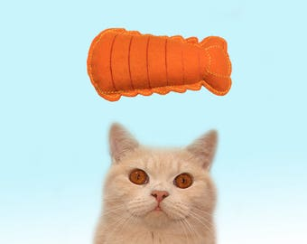 Freak Meowt, Handmade Unique Valerian Root Lobster Tail Cool Cat Toys, Gifts for Cats