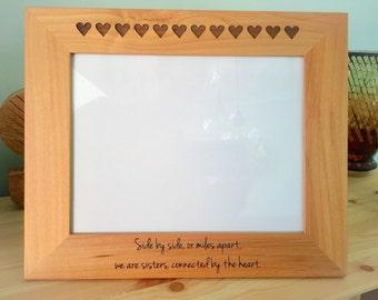 Sister picture frame, Sister Gift, Sister Birthday Gift, Sister Long Distance Gift, Sister Love, Sister Frame, Engraved Wood Frame, Custom