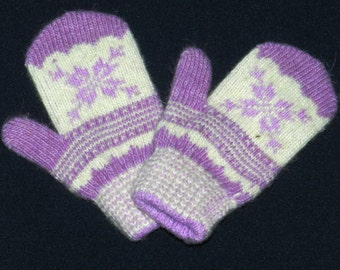 mittens, wool gloves, Mittens from angora wool, warm Mittens , knitted Mittens , children's mittens, wool mittens