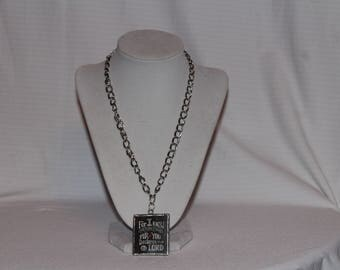 Hand made necklace w/ Christian verse pendant
