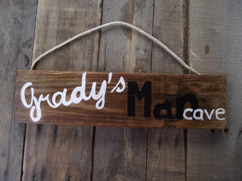 Handmade Man Cave Signs : Man cave sign custom pallet