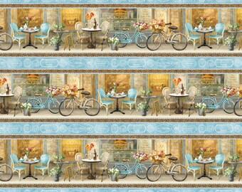 Le Cafe' - Per Yd - Wilmington Prints -  Danhui Nai - Border Stripe