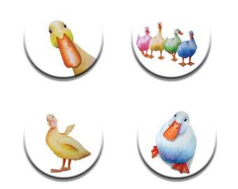 A pack of 4 Maria moss Artist pop art Ducks design Pattern weights fabric weights No need for pins