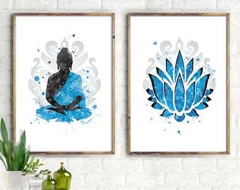 Illustrations ZEN, yoga bouddha, art print zen, impression bouddha, 3rd illustration free print