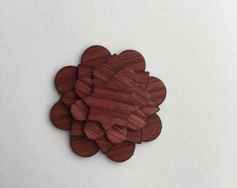 Purple Heart Lapel Pin - Wood Lapel Pin - Mens Lapel Flower - wooden lapel - lapel