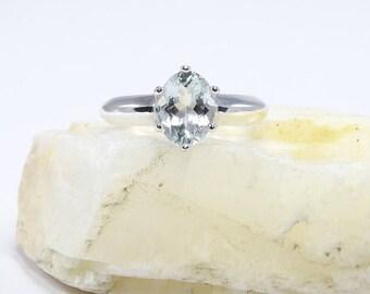 Aquamarine ring, sterling silver aquamarine rings, ring aquamarine, oval stone ring, aquamarine, ring size 3 4 5 6 7 8 9 10 11 12 13