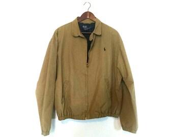 Vintage 1990s Ralph Lauren Polo khaki members only grandpa jacket
